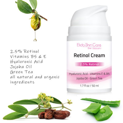 Elida Skin Care Retinol Cream with anti-aging and anti-wrinkle properties
